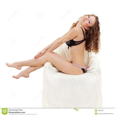 Nursing Home Design Plans by Young Women In Underwear Sitting Royalty Free Stock