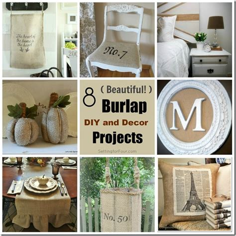 design ideas with burlap 8 burlap diy and decor projects setting for four