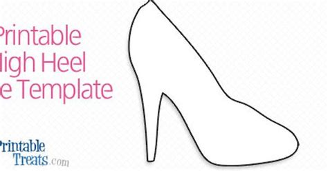 high heel template for cards printable high heel shoe template printable treats