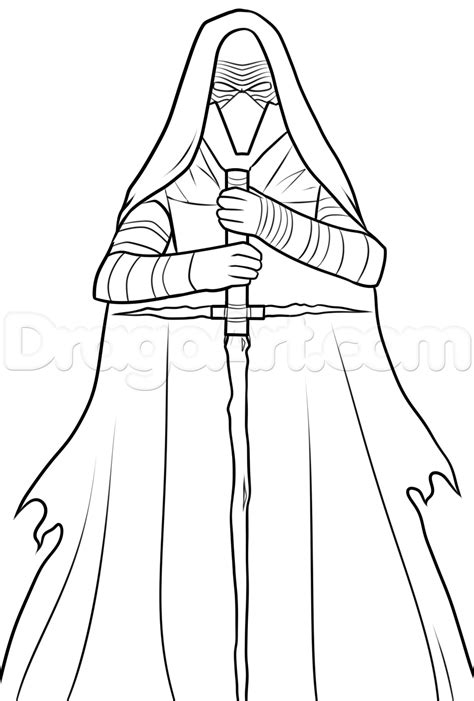 coloring pages kylo ren how to draw kylo ren kylo ren star wars vii step by step