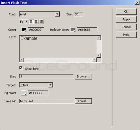 flash tutorial text creating rollover scriptsin dreamweaver flash text