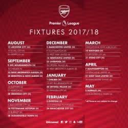 Calendrier Premiere Ligue Checkout All Arsenal S Fixtures For The 2017 18 Premier