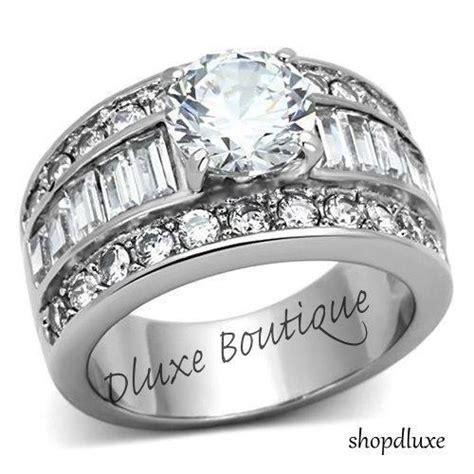 wide band engagement ring ebay