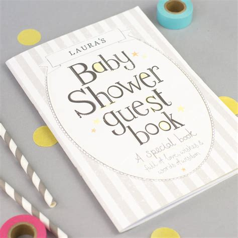 Baby Shower Guestbook by Baby Shower Guest Book By Tandem Green