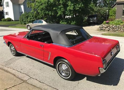 mustang car collection ford mustang cabrio 1965 rot nr classic car collection