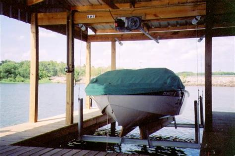 boat lift store boathouse cradle center kit for wood mounting boat lift