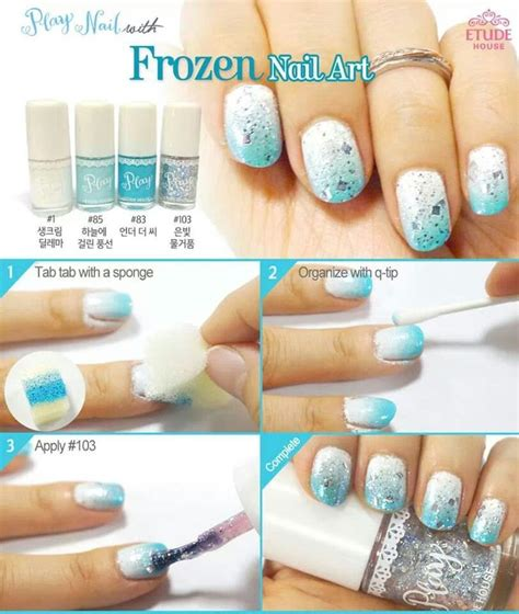 Etude House Nails Dgr704 frozen inspired nail etude house is located at the 3rd floor of sm city manila nail it