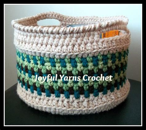 crochet pattern for yarn basket magnificent moss basket by joyful yarns craftsy