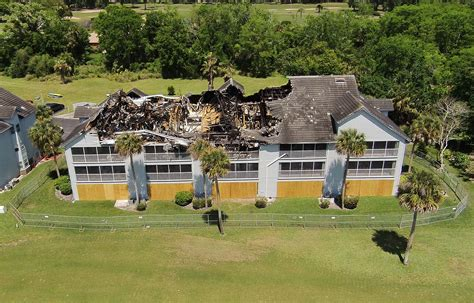 aerial view  fire damage shadow wood condominiums