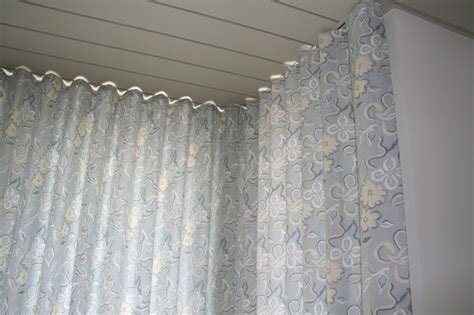 corner curtain tracks corner ripplefold drapes note the flush ceiling mounted
