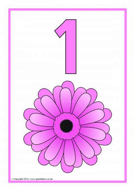 sparklebox printable number cards spring number posters 1 20 sb7103 sparklebox