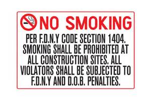 per f d n y code section 1404 no sign nyc