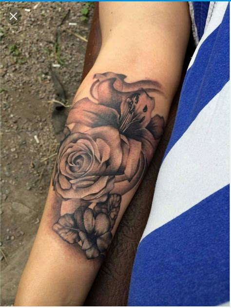 rose and lily tattoo pin by doran on tatts