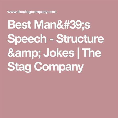 Best man speech structure debrett's peerage