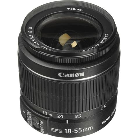 Tutup Lensa Canon 18 55mm canon ef s 18 55mm f 3 5 5 6 is ii lens white box 2042b002wb