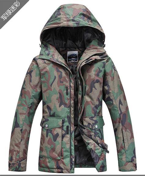 army patterned ski jacket mens ski jacket army green camouflage snowboard jacket men