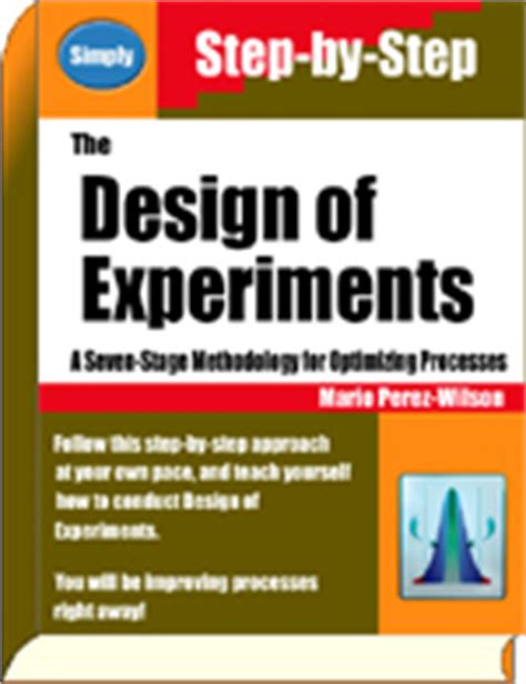 Design Experiment Book | design of experiments on site training course