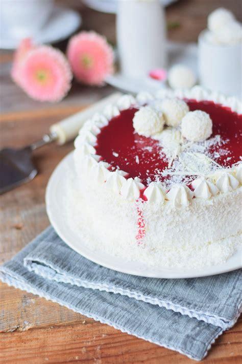 marienkäfer kuchen kokos mousse torte mit himbeer mousse kern und wei 223 er