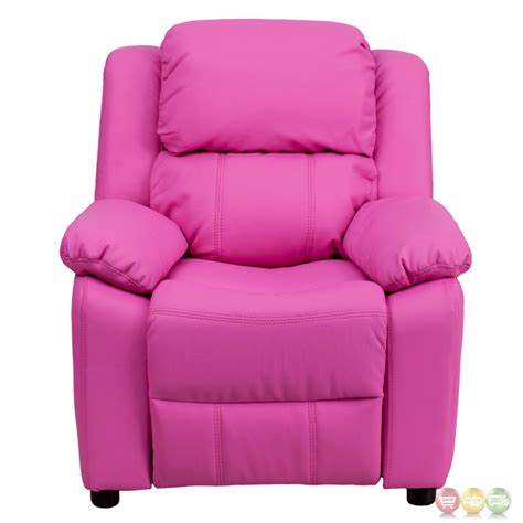 pink recliner chair deluxe heavily padded contemporary pink vinyl