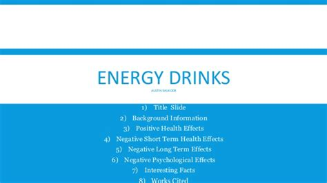 energy drink negative effects energy drinks health effects
