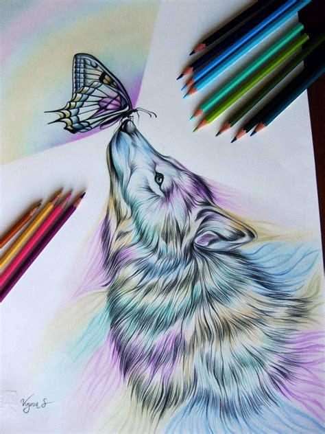 wolf butterfly tattoo designs 17 best ideas about cool wolf drawings on wolf