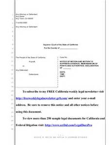 motion in limine template sle motion to suppress evidence for california