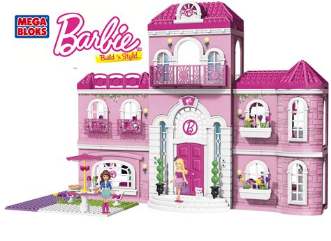 barbie doll play house mega bloks barbie build n style luxury mansion review and giveaway