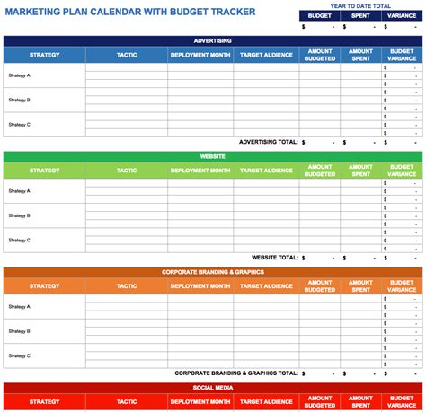 Marketing Caign Schedule Template Schedule Template Free Yearly Marketing Plan Template
