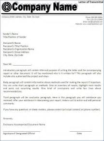 letter of transmittal template best word templates