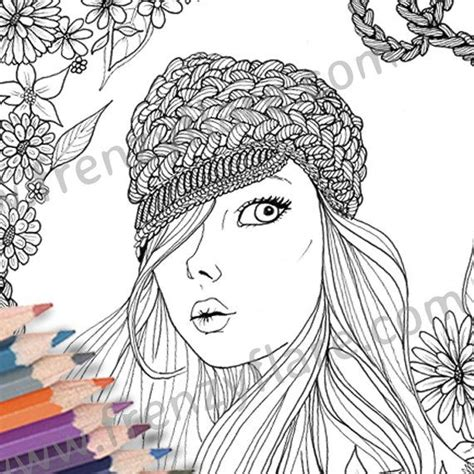 coloring book for adults markers printed coloring page for adults or beautiful