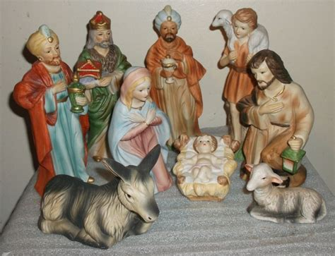 home interior nativity vintage homco home interior 9 pc nativity set mary joseph