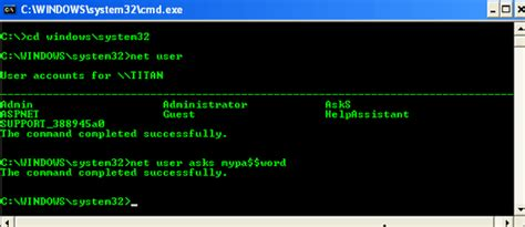 windows reset password command line quick tip change the windows user password via command line