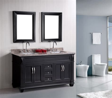 bathroom vanity ideas wood in traditional and modern designs traba homes adorna 61 quot traditional double bathroom vanity set