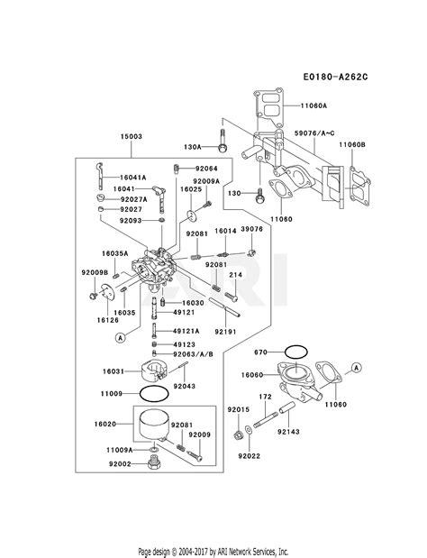 kawasaki fdv   stroke engine fdv parts diagram  carburetor