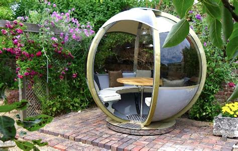 Backyard Pod by Spherical Prefab G Pods Are High Tech Loungers For Modern