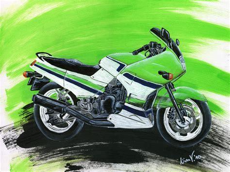 Motorrad Bilder Gemalt by Kawasaki Gpx 750r Kawasaki Gr 252 N Acrylmalerei Motorrad