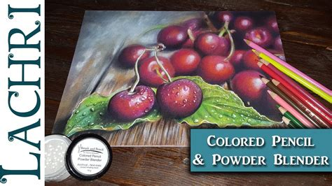 colored pencil blender colored pencil cherries polychromos powder blender