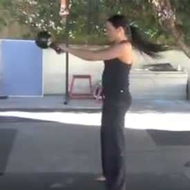 heavy kb swings ladies bring in the new rear with kettlebells