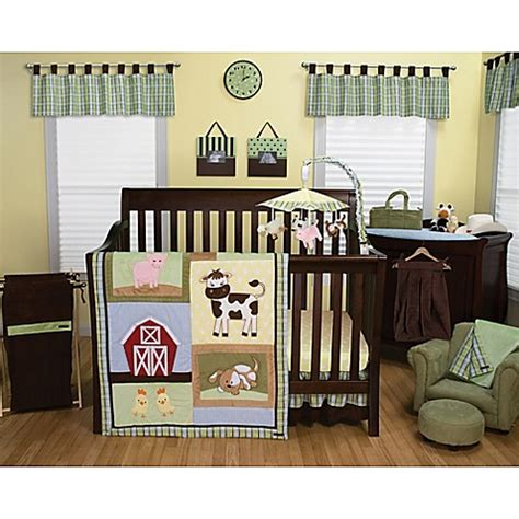 trend lab bedding trend lab 174 baby barnyard bedding collection bed bath beyond