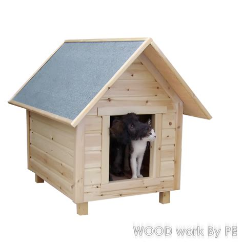 cat and dog house woodwork by pe a dog s house
