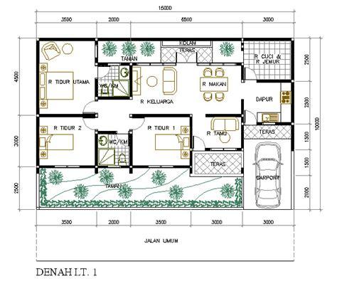 denah rumah minimalis terbaru informasi model rumah
