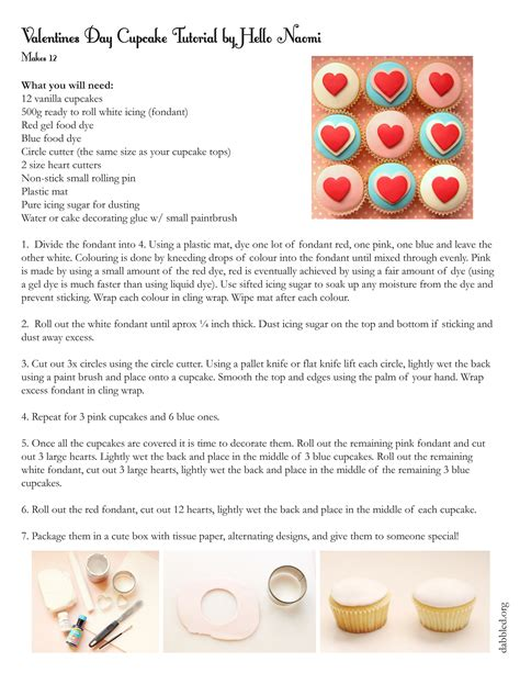 printable recipes for cupcakes dabbled make valentines day cupcakes from hello naomi