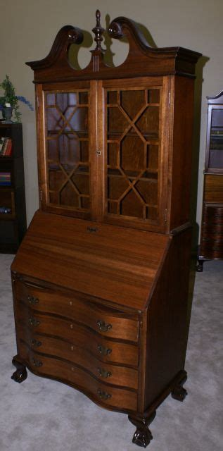 chippendale mahogany secretary desk  hutch mahogany chippendale secretary desk mahogany