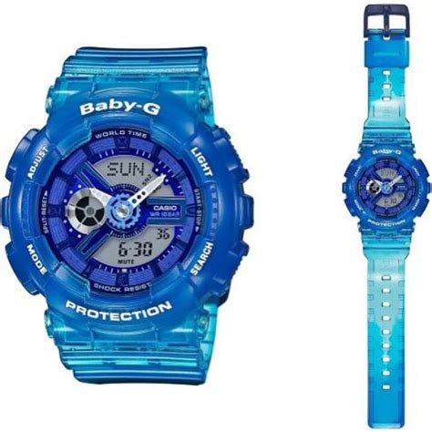 Baby G Ba 110 Blue casio baby g semi transparent blue ba 110jm 2a cooclos