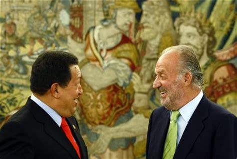 hugo chavez biography in spanish chavez and spanish king share a joke