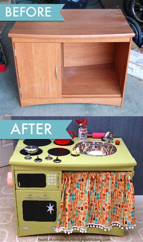 Handmade Play Kitchen - diy play kitchens