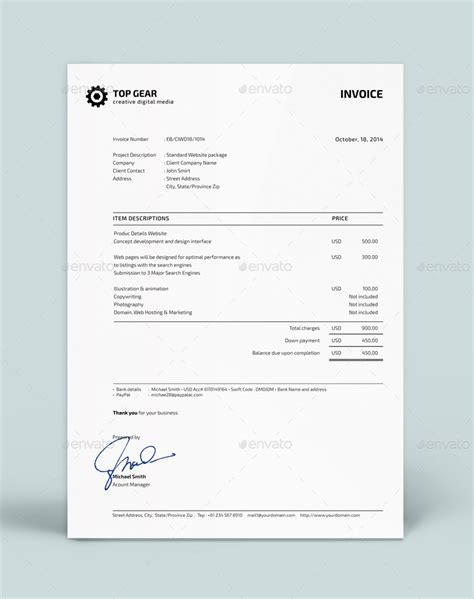 estimate invoice invoice estimate template by silukeight graphicriver