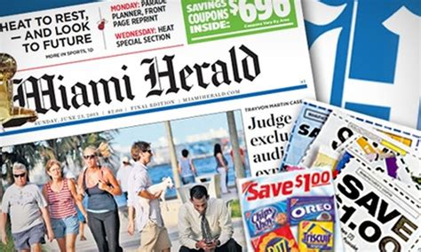 miami herald weekend section sunday newspaper home delivery miami herald groupon