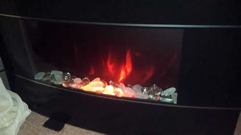 bionaire electric fireplace demo