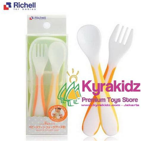 Richell Uf Baby Spoon Fork W Set Sendok Makan Bayi Dengan Kotak Richell Baby Spoon Fork With Kyrakidz